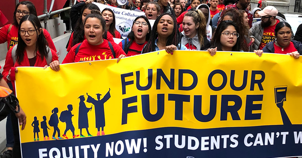 Educators Speak Out On Underfunding Of >> Thousands Rally At The State House