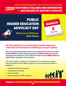 Public Higher Ed Advocacy Day flier