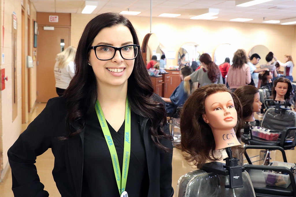 Melissa Jones, a member of the MTA New Member Committee, teaches cosmetology at Cape Cod Technical High School.