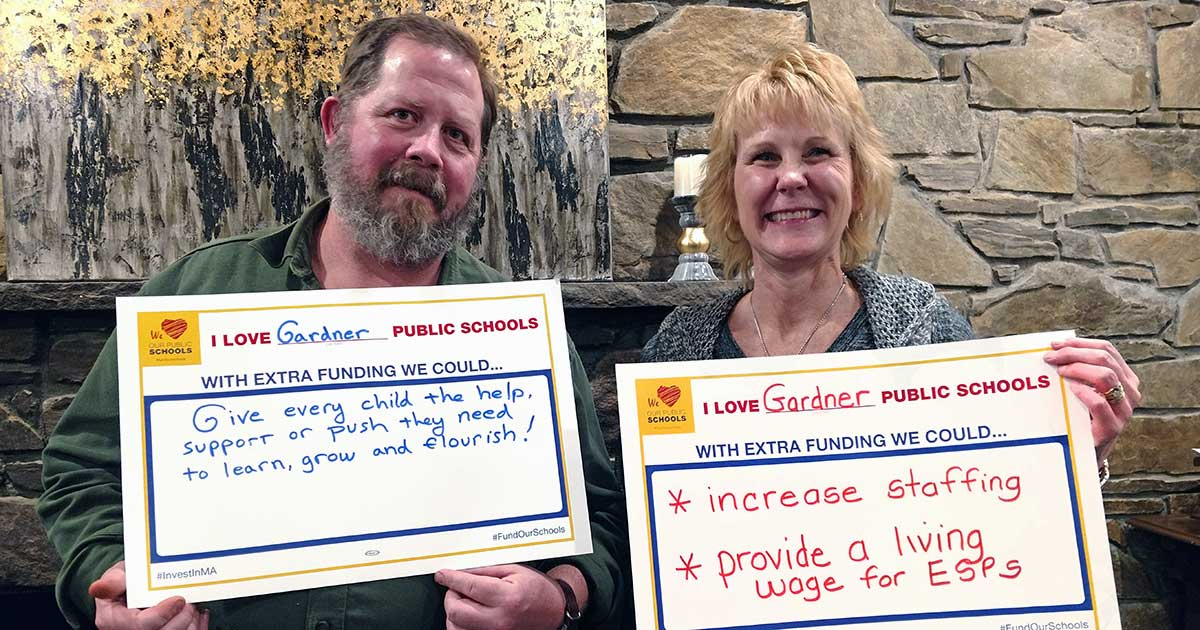 Valentine's Day Action - Gardner Ed Association members