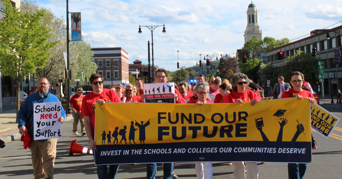 Fund Our Future rally in Pittsfield