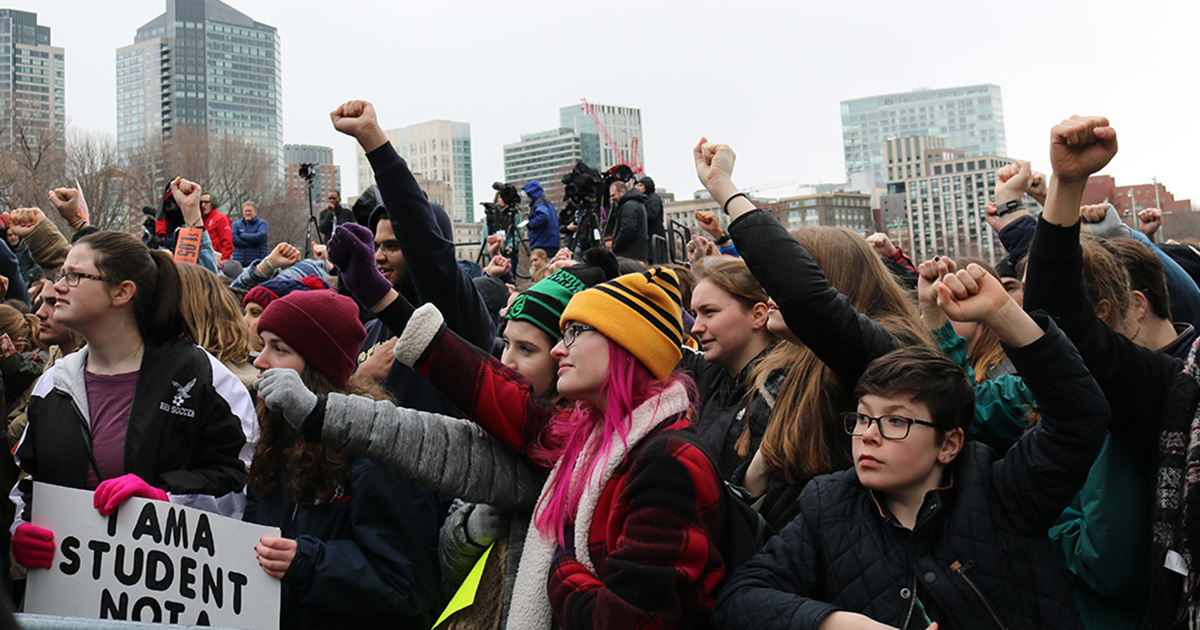 Students on the Common at March For Our Lives