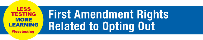First amendment rights to opting out