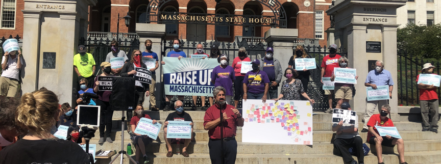 According to polling data released today by the Raise Up Massachusetts coalition, Bay State voters overwhelmingly support raising taxes on profitable corporations and their shareholders in order to make much-needed investments in our economic recovery.