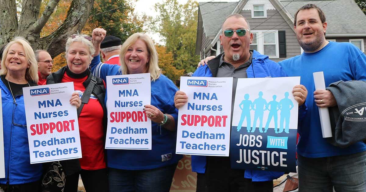 Dedham teachers went on strike on Oct. 24, 2019