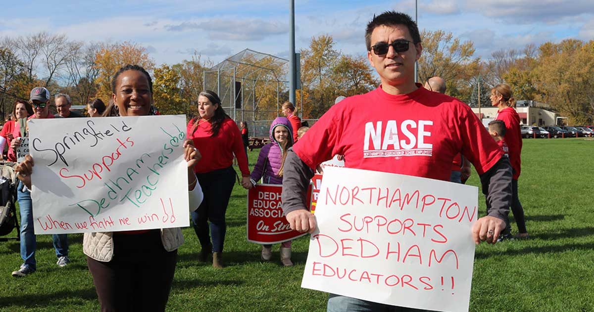 Dedham teachers reached a settlement on Oct. 27 2019
