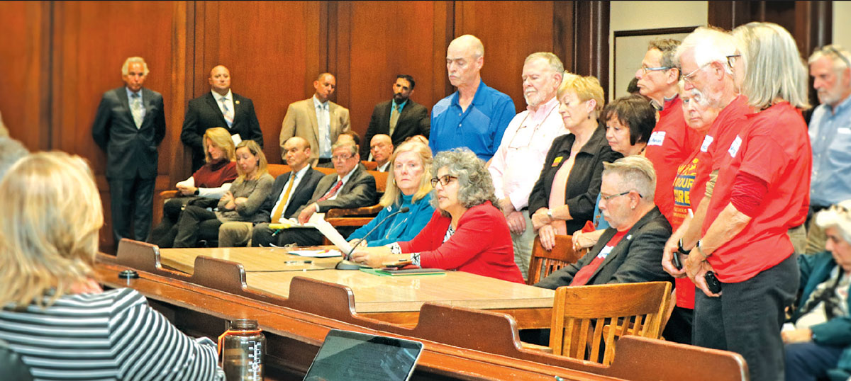 retiree testify on pension vote