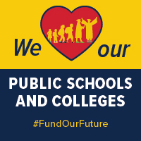 """We """"heart"""" our public schools and colleges"""