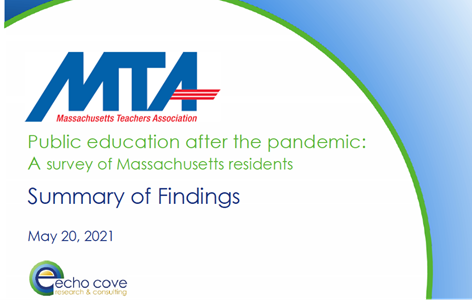 Public education after the pandemic: A survey of Massachusetts residents