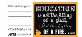 Teacher Appreciation Bookplate